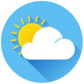 Dekobild Sonne mit Wolken